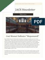 Newsletter EGACS Nº19 Mayo 2014