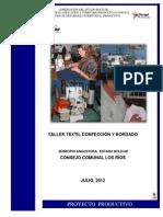 Taller Textil Confección y Bordados c.c Los Ríos.