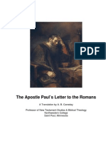 The Apostle Paul's Letter to the Romans