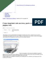 Como Imprimir Solo Un Area, Parte o Seccion de Una Pagina Web