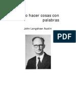 Cómo Hacer Cosas Con Palabras - Conferencia 1 (J.L. Austin)