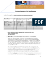 2013 JA Company Summary Template
