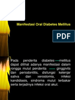 Manifestasi Oral Diabetes Mellitus