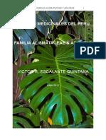 Alismataceas y Araceas Medicinales Del Peru 1