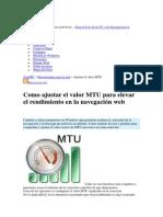 MTU de Una Conexion