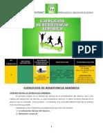 Sesión Práctica 2. Ejercicios de Resistencia Aeróbica