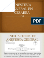 Anestesia General en Cesarea
