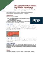 5. Reflex Sympathetic Dystrophy