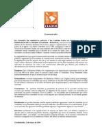 Comunicado Percy Fernandez CLADEM Bolivia
