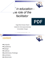 ICT in Education the Role of the Facilitator