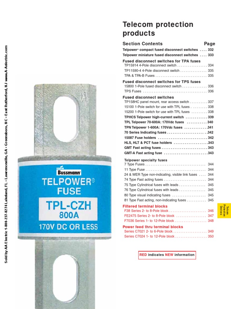Bussmann Telecom Fuse Electrical Capacitor Holder Distribution Box