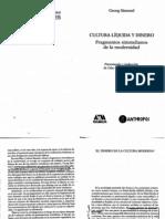 Simmel Cultura líquida y dinero.pdf