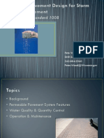 Clean Rivers, Clean Lake 2014 -- Pemeable Pavemnt Design for Water Managment