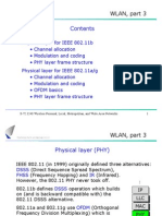 WLAN, Part 3 Contents