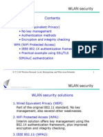 WLAN Security Contents