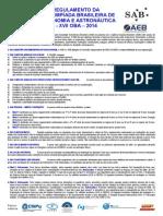 Regulamento 2014 OBA