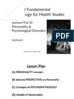 Microsoft Power Point - 0910 CC2413 L910 Personality Disorders Standard SV
