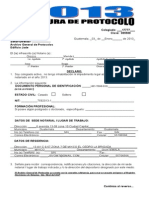 Apertura de Protocolo 2013