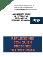La Educaciòn y Sujeto Crítico