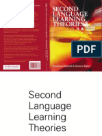 Second Language Learning Theories [Mitchell -Myles]
