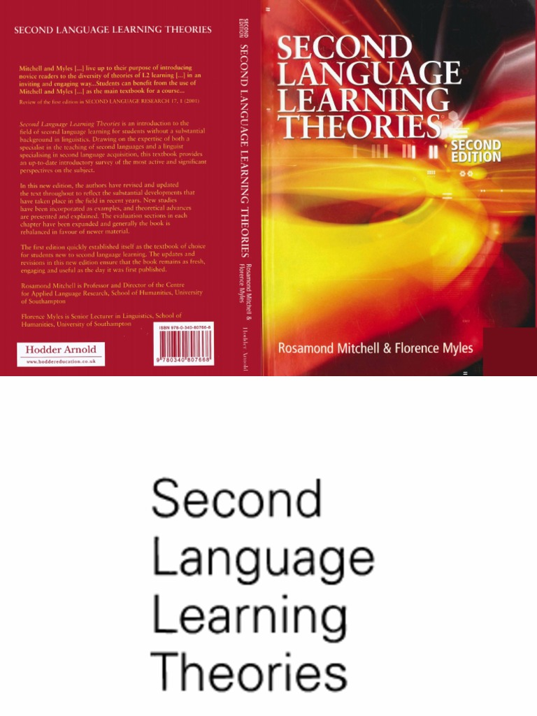 Second language learning theories mitchell myles second second language learning theories mitchell myles second language acquisition language acquisition fandeluxe Image collections