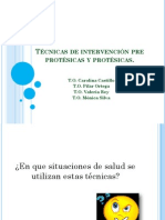 Técnicas de Intervención Pre-protésicas y Protésicas