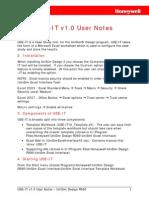 UniSim Excel Interface Tool User Notes