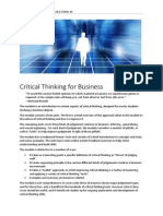 Critical Thinking for Business 1 Mar(1)