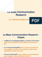 7 a - La Mass Communication Research - Primera Etapa