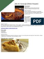 Cheesecake Com Calda de Maracujá