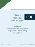 System Analysis_Event Tree Analysis