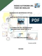 LA FORMACIÓN DEL PROFESORADO UNIVERSITARIO ANTE LAS TIC´S