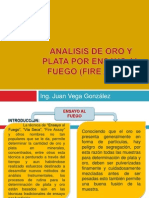 Analisis de Oro Fire Assay