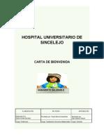 CARTA DE BIENVENIDA A LA INSTITUCIÓN