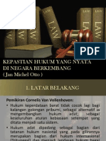 Kepastian Hukum di negara Berkembang (John Michele Oto)