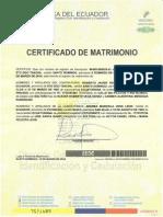 Certificado de Matrimonio 15 Marzo 2014