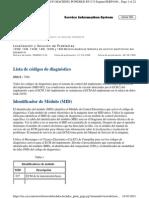 Lista de Códigos de Diagnóstico