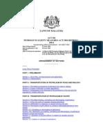Petroleum Safety Measures Act 1984 Malaysia