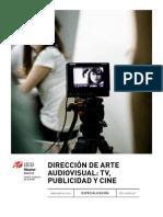 E Direccion Arte Audiovisual TV Publicidad Cine IEDMadrid
