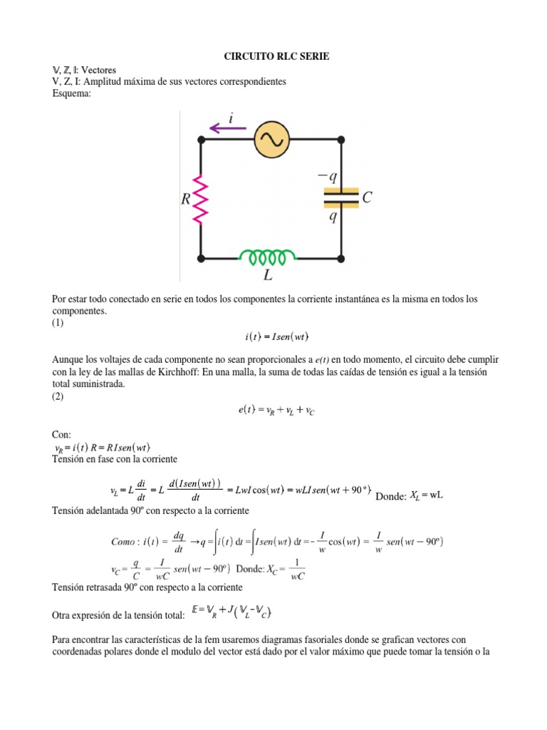Circuito Rlc : Circuitos rlc pdf