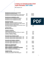 Costos de Mano2007-2010