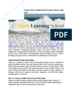 Quick Learning School Best Online Real Estate Classes and Pre Licensing Courses