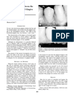 The Relationship Between the Width of Keratinized Gingiva and Gingival Health