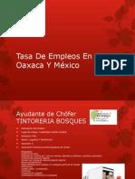 Tasa de Alguno Empleos en Oaxaca Y México