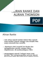 Aliran Ranke dan Aliran Thomson