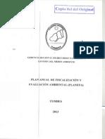 Plan Anual Fiscalizacion y Evaluacion Ambiental