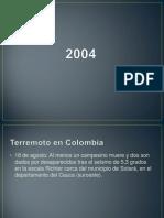 sismos 2004 - 2014