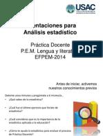 Presentación Análisis Estadístico, Práctica EFPE M