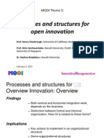 Process and Structures for Open Innovation(Ppt)
