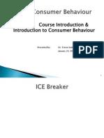 Consumer Behaviour - MS30E Lecture 1